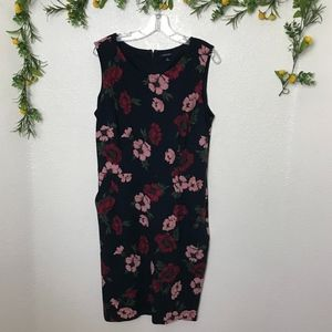 Lands End Sleeveless Floral Dress Size 16